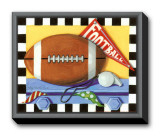 Football Framed Canvas Print by Kathy Middlebrook