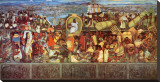 The Great City of Tenochtilan Stretched Canvas Print by Diego Rivera