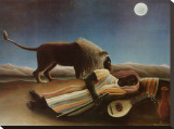 Sleeping Gypsy, 1897 Stretched Canvas Print by Henri Rousseau