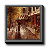 Romantic Stroll Framed Canvas Print by Brent Heighton