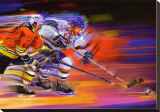 Goals: Hockey Stretched Canvas Print by Bill Hall