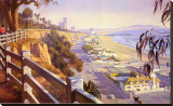 Pacific Coast Highway II Stretched Canvas Print by John Comer