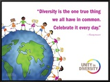 Celebrate Diversity Framed Canvas Print