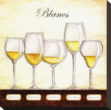 Les Vins Blancs Stretched Canvas Print by Andrea Laliberte