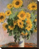 Sunflowers, c.1881 Trykk på strukket lerret av Claude Monet