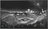 Wrigley Field Framed Canvas Print by Scott Mutter