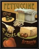 Fettuccine Framed Canvas Print by Daphne Brissonnet