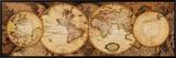 Map of the World: Nova Totius Terrarum Orbis Framed Canvas Print
