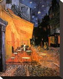 The Café Terrace on the Place du Forum, Arles, at Night, c.1888 Stretched Canvas Print