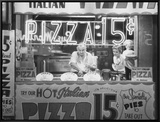 Hot Italian Pizza Framed Canvas Print by Nat Norman
