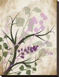 Lavender and Sage Florish Stretched Canvas Print by Jennifer Pugh