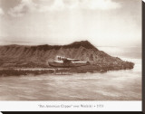 Pan American Clipper over Waikiki, Hawaii, 1935 Stretched Canvas Print by Clyde Sunderland
