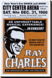 Ray Charles at the City Center Arena, Seattle, 1966 Stretched Canvas Print by Dennis Loren