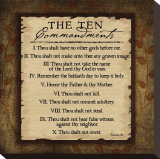 The Ten Commandments Stretched Canvas Print by Jennifer Pugh