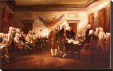 The Declaration of Independence Stretched Canvas Print by John Trumbull
