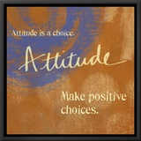 Attitude Framed Canvas Print
