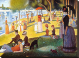 Sunday Afternoon on the Island of la Grande Jatte, c.1886 Stretched Canvas Print by Georges Seurat