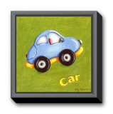 Car Framed Canvas Print by Kathy Middlebrook
