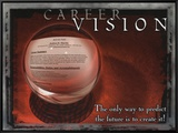 Career Vision Framed Canvas Print