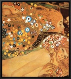 Water Serpents II, c.1907 (detail) Framed Canvas Print by Gustav Klimt