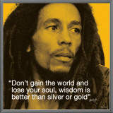 Bob Marley: Wisdom Framed Canvas Print