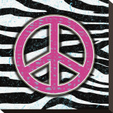 Zebra Peace Stretched Canvas Print by Louise Carey