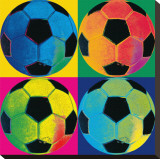 Ball Four: Soccer Stretched Canvas Print