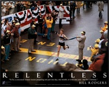 Bill Rodgers: Relentless Framed Canvas Print by Dick Raphael
