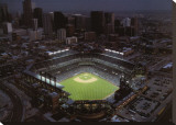 Coors Field - Denver, Colorado Stretched Canvas Print by Mike Smith