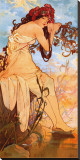 Summer Stretched Canvas Print by Alphonse Mucha