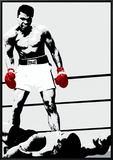 Muhammad Ali: Gloves Framed Canvas Print