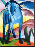Blue Horse I Stretched Canvas Print by Franz Marc