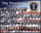 The Presidents Framed Canvas Print