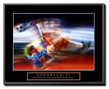 Opportunity: Soccer Framed Canvas Print by Bill Hall
