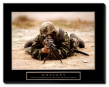 Bravery Stretched Canvas Print
