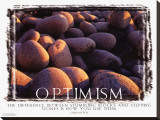 Optimism Stretched Canvas Print