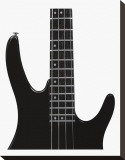 Electric Bass Stretched Canvas Print by Michel Ditlove