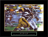 Strive: Football Framed Canvas Print by Bill Hall