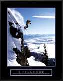 Challenge: Skier Framed Canvas Print