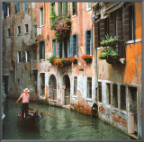 Venice - Italy Framed Canvas Print by Stuart Black