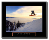 Attitude: Snow Boarder Framed Canvas Print