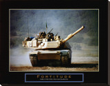 Fortitude: Tank on the Move Stretched Canvas Print by Jerry Angelica