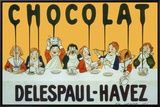 Chocolat Delespaul Havez Framed Canvas Print