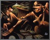 Urban Jazz Session Framed Canvas Print by David Garibaldi