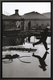Derriere la Gare Saint-Lazare, Paris Framed Canvas Print by Henri Cartier-Bresson