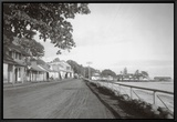 Front Street, Lahaina, 1917 Framed Canvas Print