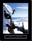 Challenge: Skier Stretched Canvas Print