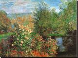 Coin de jardin à Montgeron Reproduction transférée sur toile par Claude Monet