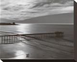 The Scripps Pier Stretched Canvas Print by Ansel Adams