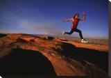 Determination: Runner Stretched Canvas Print